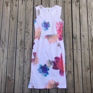 Calvin Klein Multicolor Floral Dress